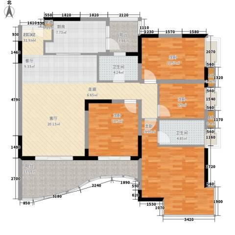 光大花园4室0厅2卫1厨138.00㎡户型图