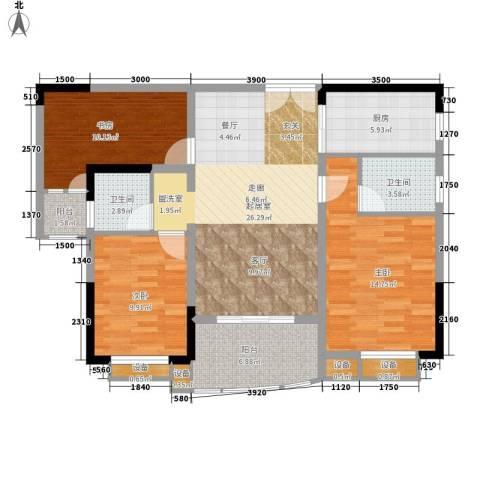 上东莱克辛顿3室0厅2卫1厨111.00㎡户型图