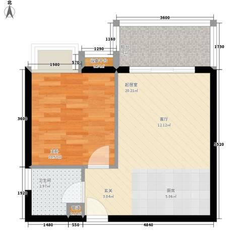 东方海岸1室0厅1卫0厨52.00㎡户型图