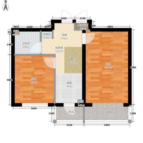 建龙第一城2室0厅1卫0厨67.00㎡户型图