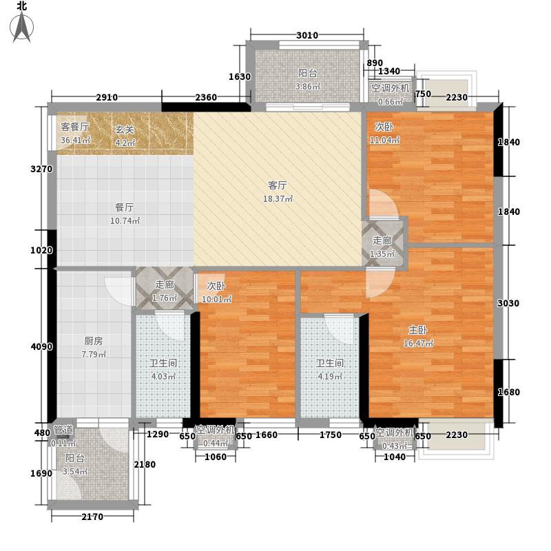 城市假日园113.69㎡E3栋2-18层06面积11369m户型