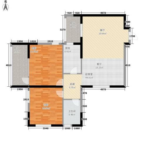 远东大厦2室0厅1卫1厨114.00㎡户型图