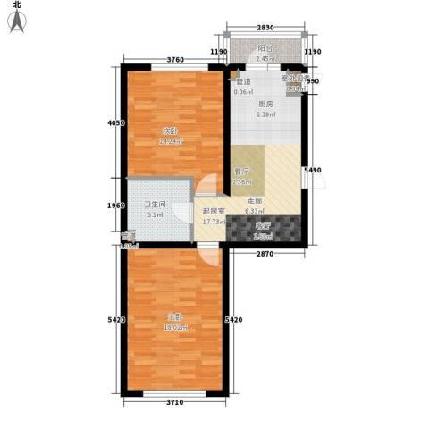 建龙第一城2室0厅1卫0厨83.00㎡户型图