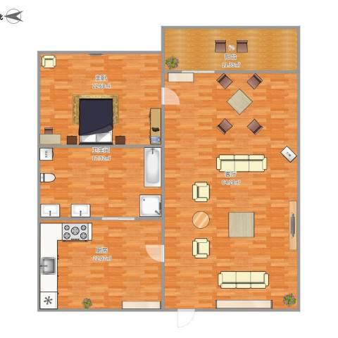 潜龙鑫茂花园1室1厅1卫1厨180.00㎡户型图