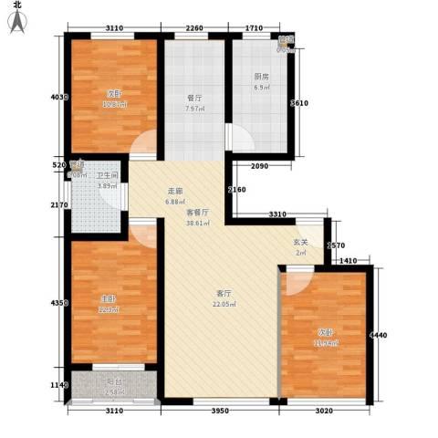 五矿宿舍3室1厅1卫1厨125.00㎡户型图