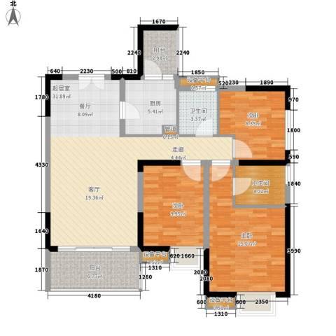 天悦府3室0厅2卫1厨116.00㎡户型图