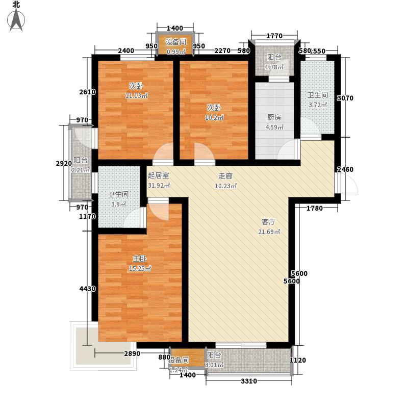 天润花园137.50㎡11号楼2单元A户面积13750m户型