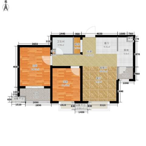 富源城2室1厅1卫0厨88.00㎡户型图
