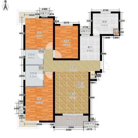 富源城3室1厅2卫1厨144.00㎡户型图
