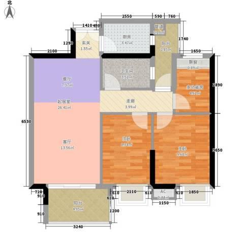 粤海丽江花园2室0厅1卫1厨93.00㎡户型图