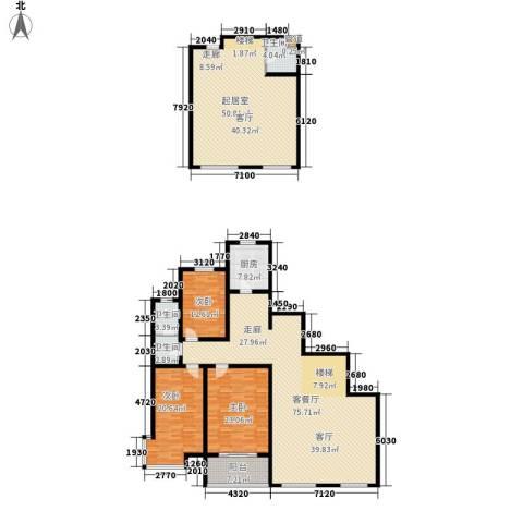 中阳信和水岸3室1厅3卫1厨208.42㎡户型图
