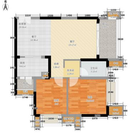 天悦府2室0厅1卫1厨89.00㎡户型图