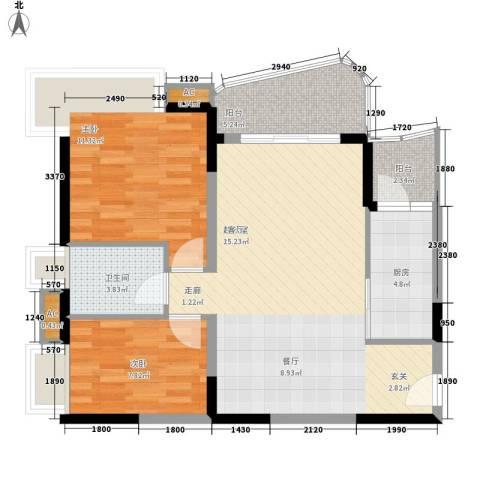 光大花园2室0厅1卫1厨72.00㎡户型图