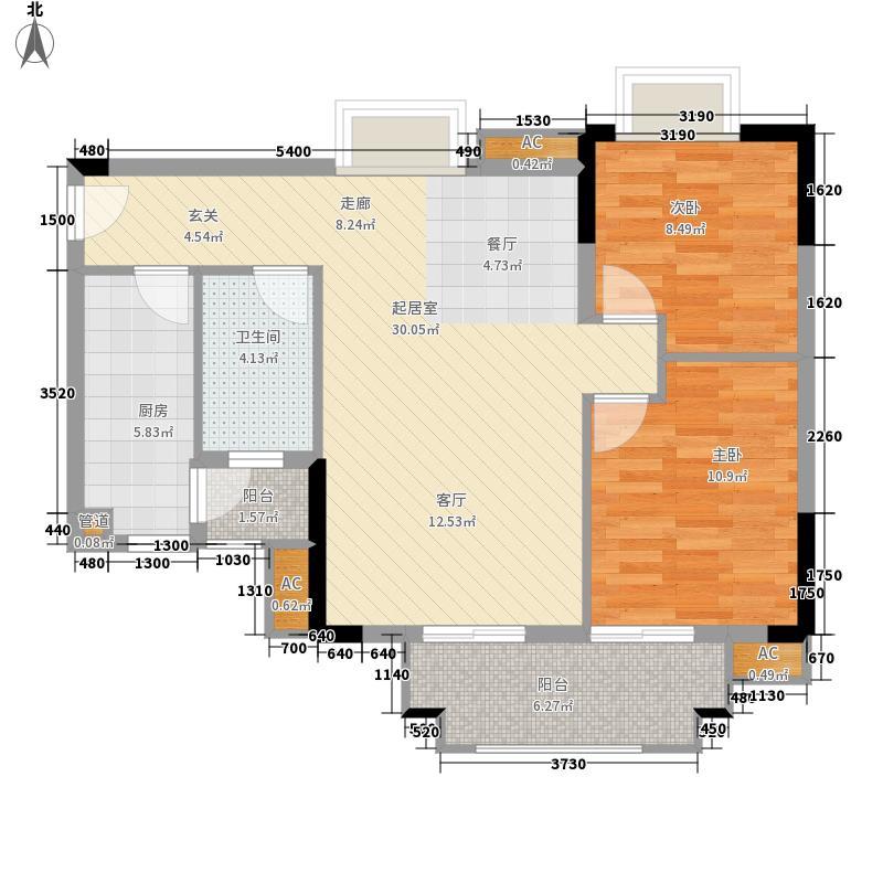 广州富力城78.47㎡G5栋06单元2面积7847m户型