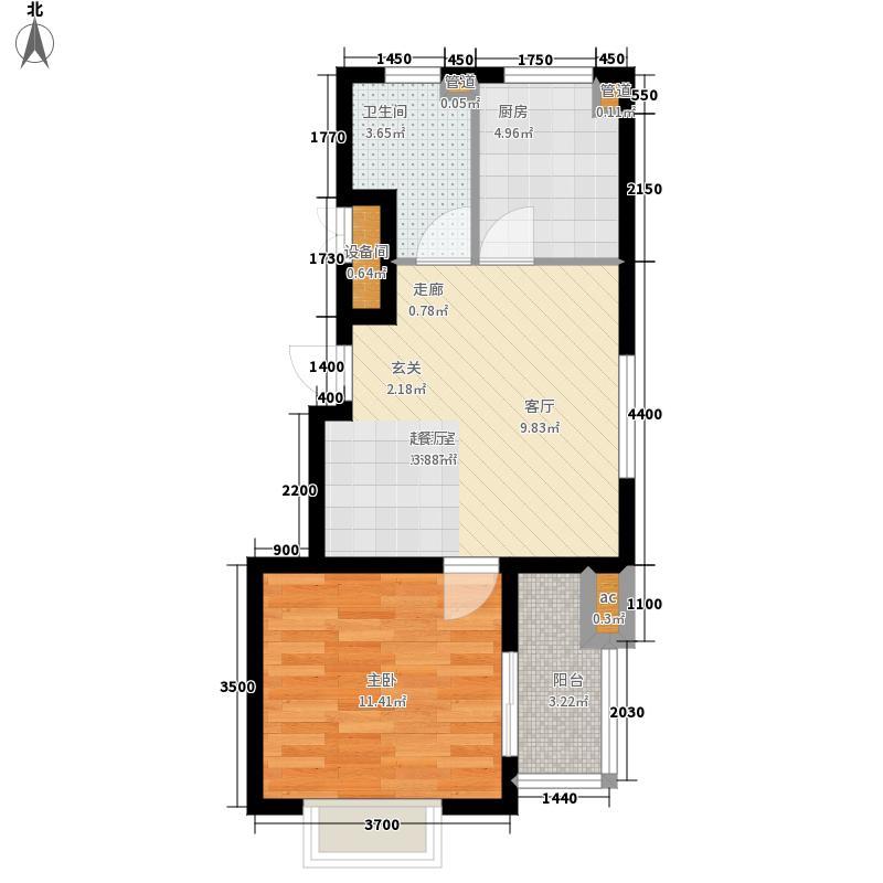 燕赵国际54.70㎡小高层L户型1室2厅