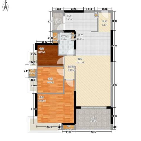 碧桂园凤凰城凤锦苑3室0厅1卫1厨105.00㎡户型图