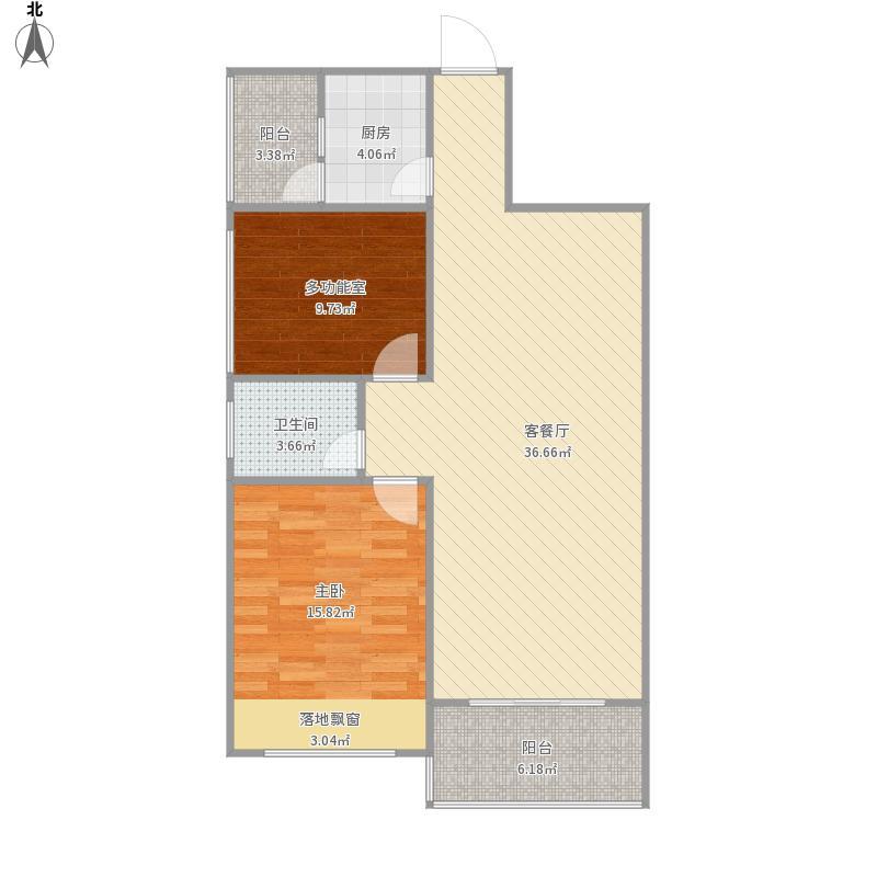 百色平果县东方国际小区房型图