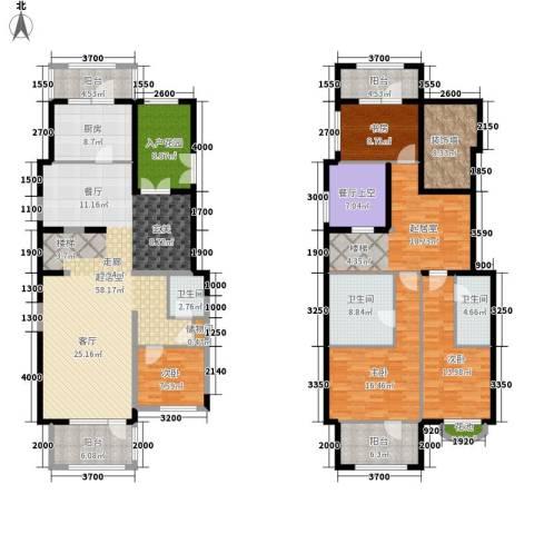 溪水雅地·尚著4室0厅3卫1厨200.00㎡户型图