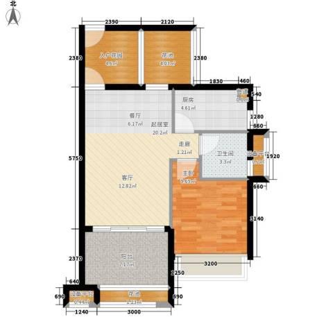 德盛南岛康城1室0厅1卫1厨63.00㎡户型图