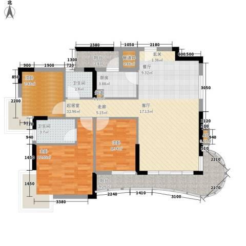 光大花园3室0厅2卫1厨111.00㎡户型图