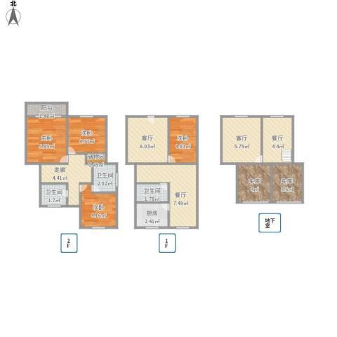 绿地公园壹品4室4厅3卫1厨91.00㎡户型图
