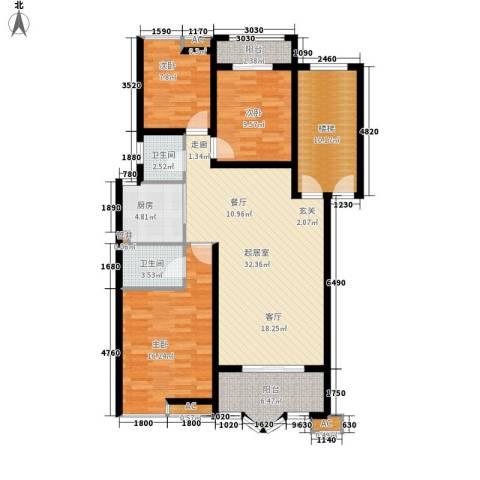水木兰庭3室0厅2卫1厨112.00㎡户型图