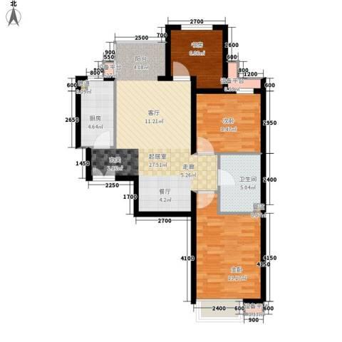 瑶绮园3室0厅1卫1厨95.00㎡户型图