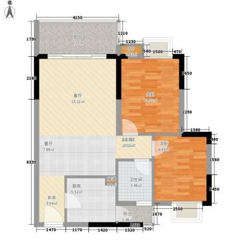 光大花园2室0厅1卫1厨73.00㎡户型图