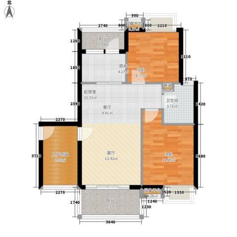 东方海岸2室0厅1卫1厨82.00㎡户型图