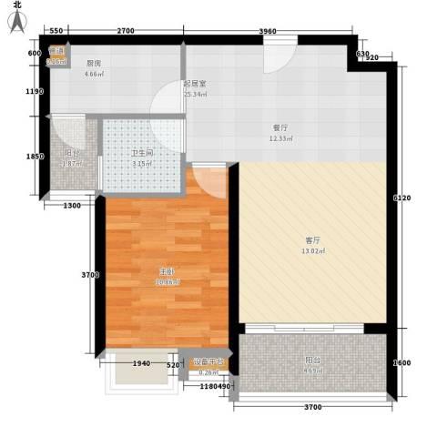 东方海岸1室0厅1卫1厨67.00㎡户型图