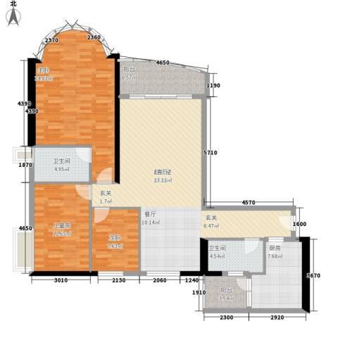 叠彩园3室0厅2卫1厨128.00㎡户型图
