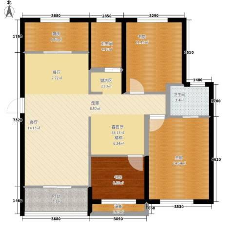 嘉悦景苑3室1厅2卫1厨202.00㎡户型图
