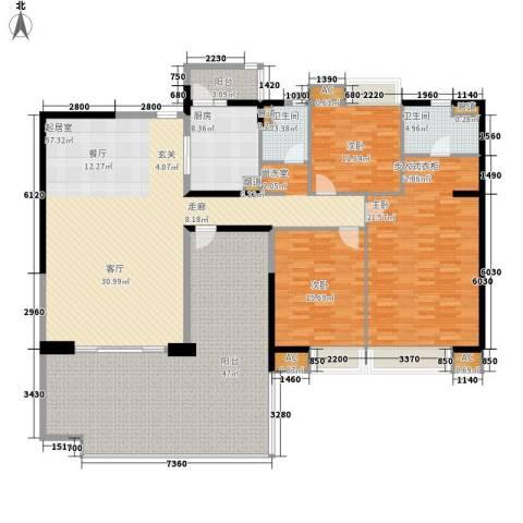 碧桂园凤凰城凤锦苑3室0厅2卫1厨254.00㎡户型图