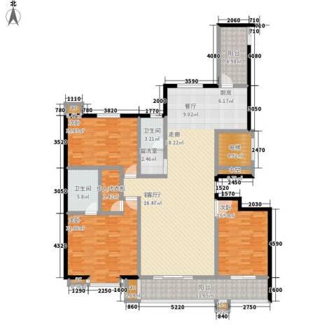 和谐家园3室1厅2卫0厨175.00㎡户型图