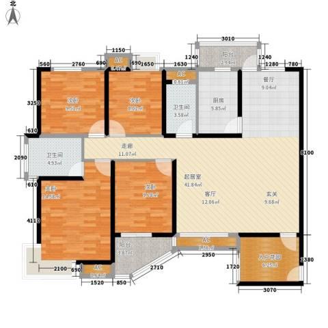 顺天黄金海岸4室0厅2卫1厨140.00㎡户型图