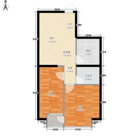 伟丰花园2室0厅1卫1厨72.00㎡户型图