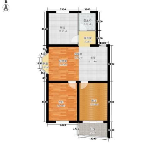 卸甲山庄1室0厅1卫1厨99.00㎡户型图