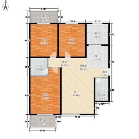 伟丰花园3室0厅2卫1厨145.00㎡户型图
