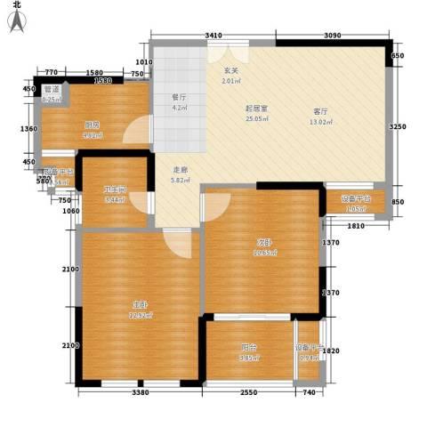 伟丰花园2室0厅1卫1厨70.00㎡户型图
