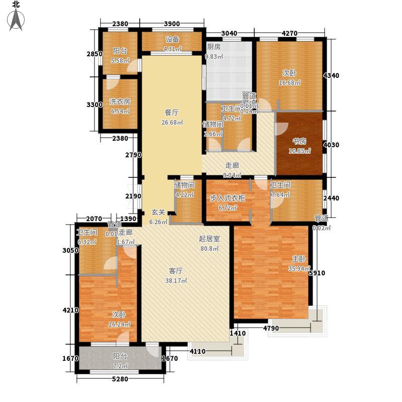 富力津门湖276.00㎡景尚嘉郡7、8号楼一单元户型4室2厅
