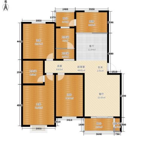 伟丰花园3室0厅3卫1厨144.00㎡户型图