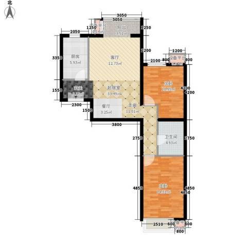 瑶绮园2室0厅1卫1厨101.00㎡户型图