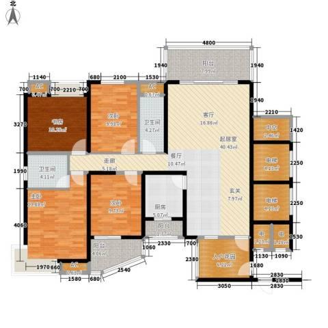 顺天黄金海岸4室0厅2卫1厨146.00㎡户型图