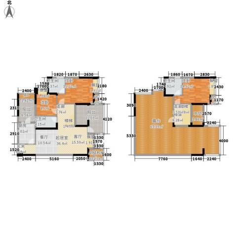 金海岸天府花园水城3室0厅3卫1厨193.62㎡户型图