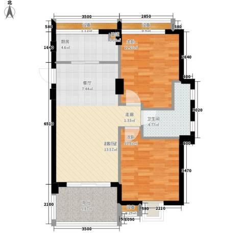 华亚海岛假日2室0厅1卫1厨82.00㎡户型图