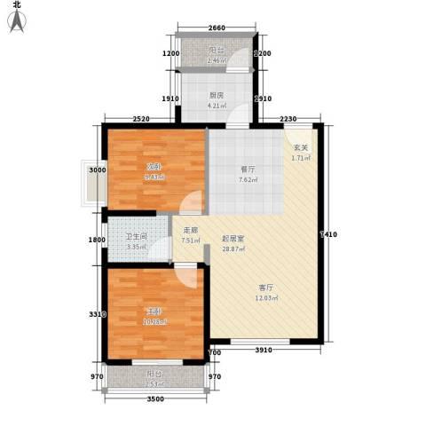 伟丰花园2室0厅1卫1厨101.00㎡户型图