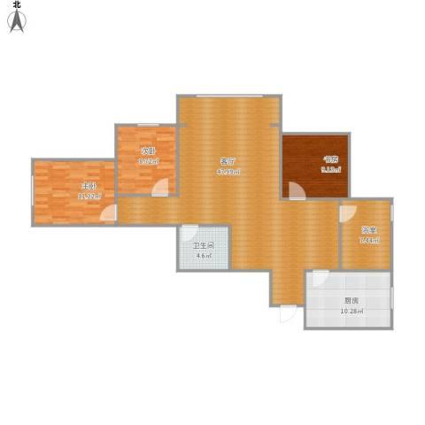 望京花园西区3室1厅1卫1厨133.00㎡户型图