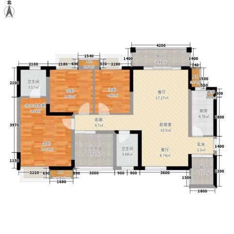 城郊涉外桃源3室0厅2卫1厨138.00㎡户型图
