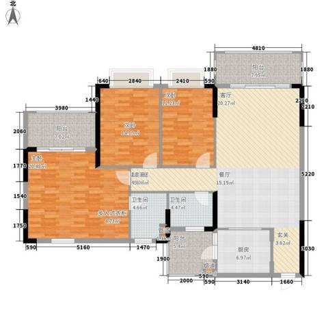 锦绣御景苑3室0厅2卫1厨149.00㎡户型图