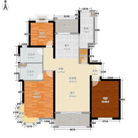 金桥瑞仕花园3室0厅2卫1厨147.00㎡户型图